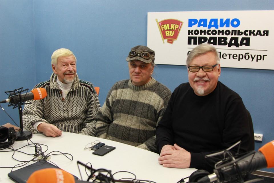 Александр Донских, Евгений (Жак) Волощук и Александр Семенов в студии радио «Комсомольская Правда в Петербурге» 92.0 FM