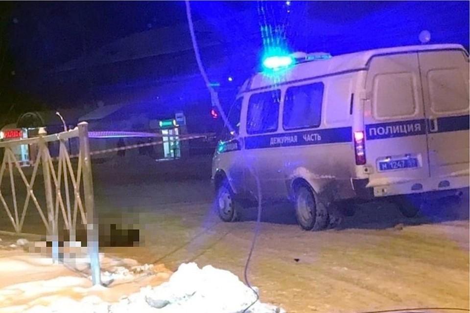 """Фото с места убийства прохожей. Фото из группы """"Гайва Live"""""""
