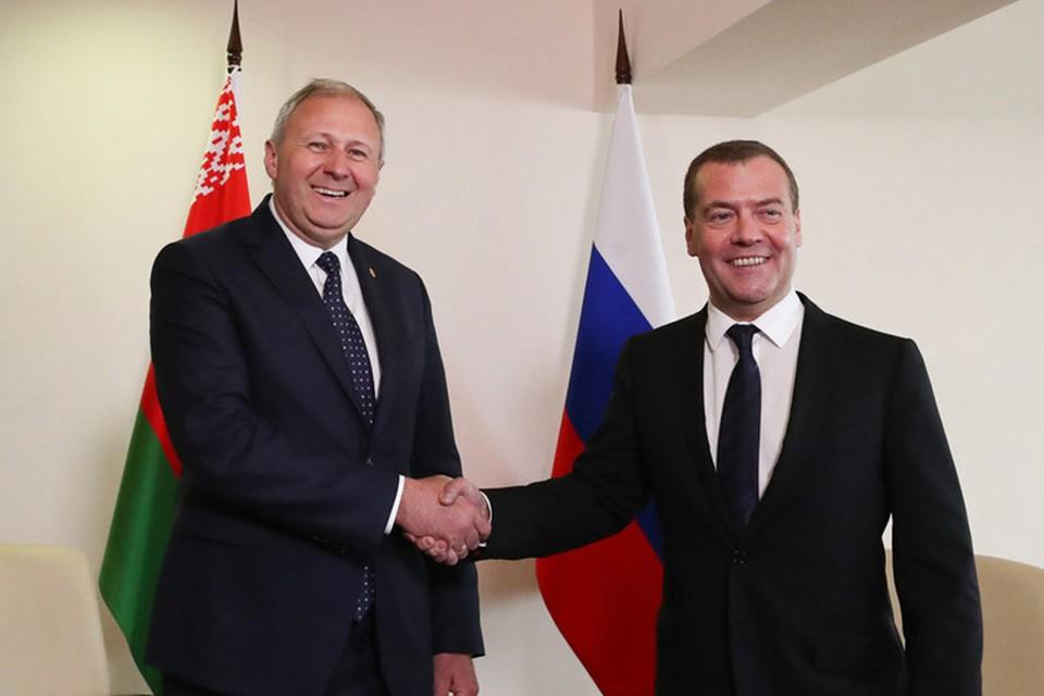 Переговоры Румаса и Медведева за закрытыми дверями длились два часа. Фото: БелТА.