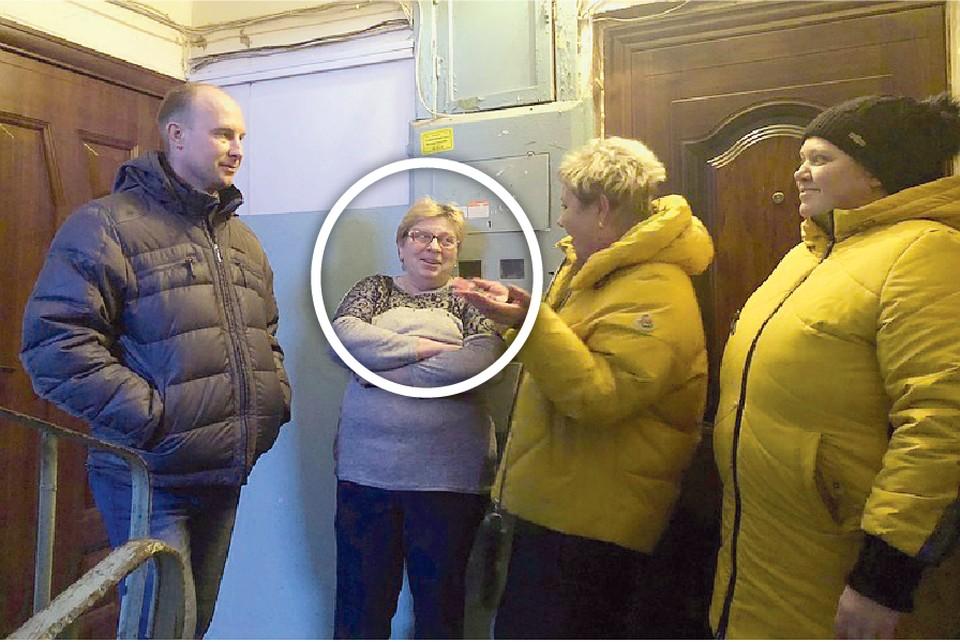 Еще 9 декабря женщины мирно беседовали с Алксандром Барыбиным. Но 10 числа оказалось, что у одной из них в квартирном газопроводе нашли воду.