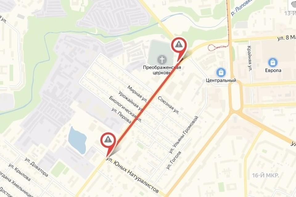 В среду в Липецке перекроют часть улицы Папина