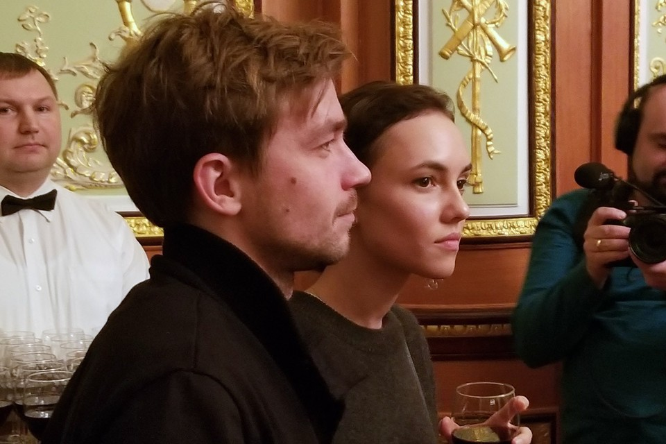 Актеры Александр Петров и Стася Милославская на Неделе российского кино в Нью-Йорке.