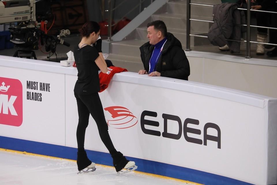 Евгения Медведева досрочно завершила тренировку перед произвольной программой