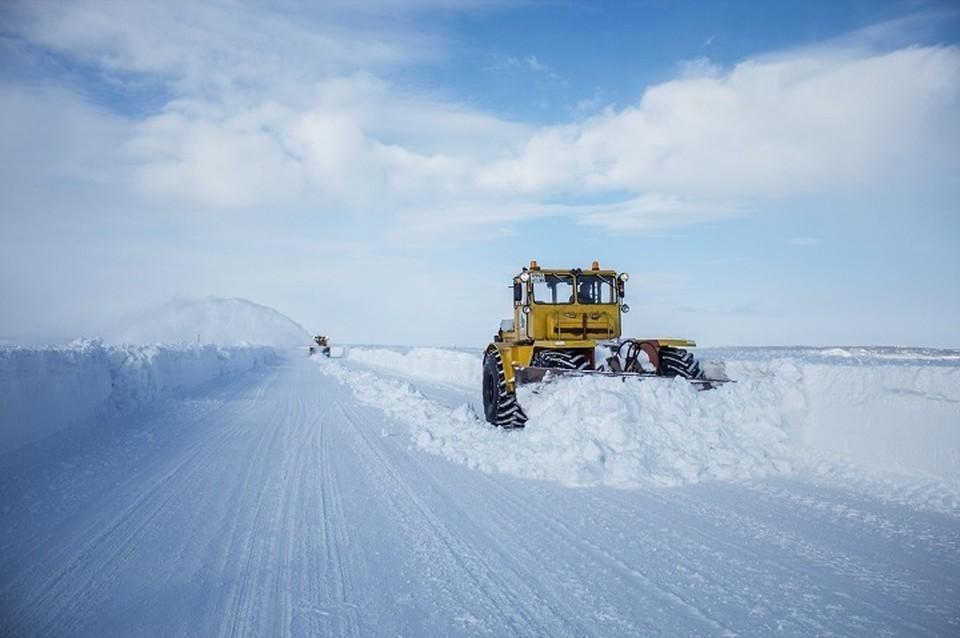 С трех часов дня открыт зимник «Лабытнанги-Мужи-Азовы-Теги». Фото департамента дорожного хозяйства ЯНАО