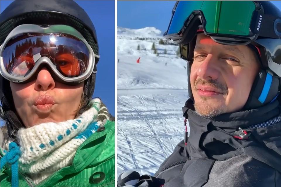 Ксения отвезла Константина Богомолова в Куршевель кататься на лыжах. Фото: Инстаграм.
