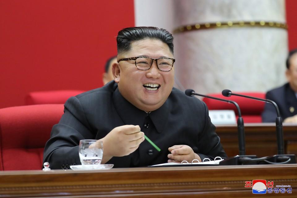 Товарищ Ким Чен Ын выступил с докладом о первой повестке.