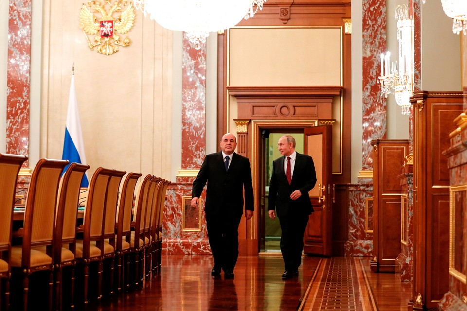 Путин отметил, что предыдущий состав правительства создал хорошую базу для дальнейшего развития. Фото: Дмитрий Астахов/POOL/ТАСС