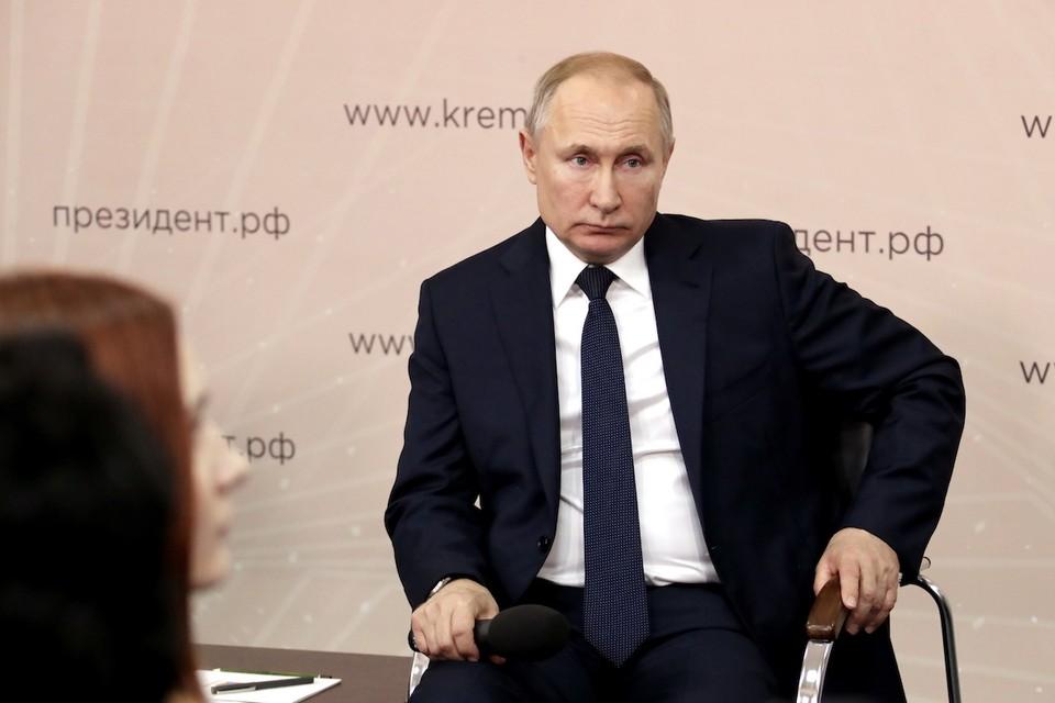 Владимир Путин во время встречи с представителями общественности в Липецкой области. Фото: Михаил Метцель/ТАСС.