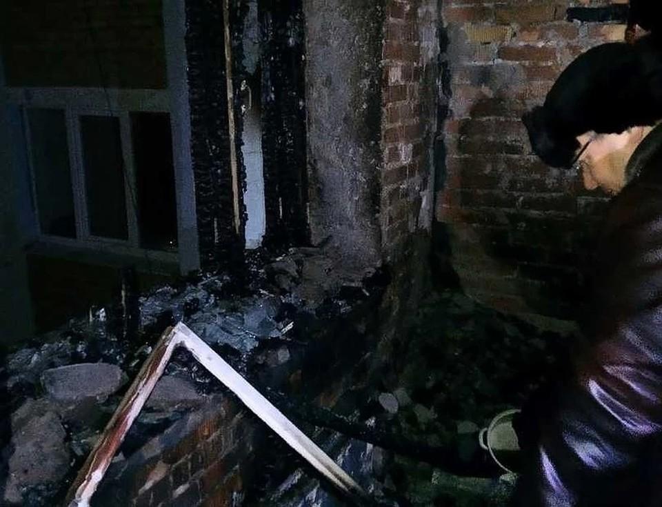 Общежитие после пожара