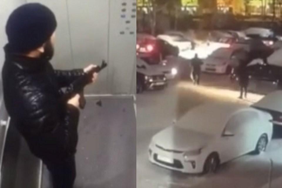 Установлена личность мужчины, устроившего стрельбу возле жилого дома в Нижневартовске. Фото: скриншот с видео