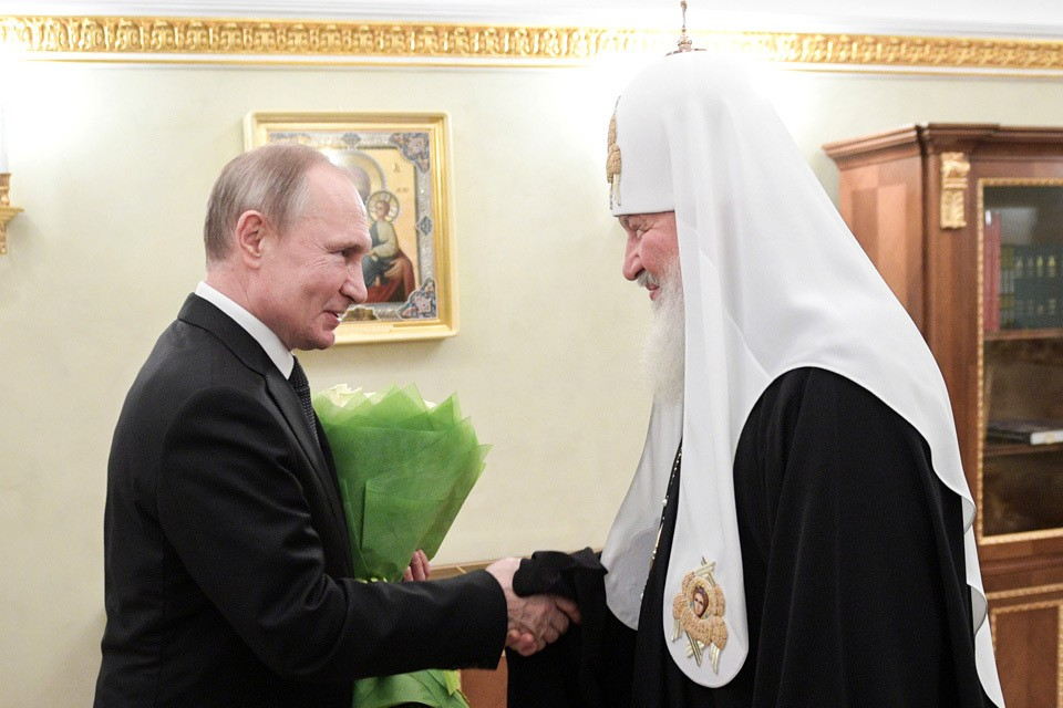 Владимир Путин 1 февраля поздравил Патриарха Кирилла с Днем интронизации