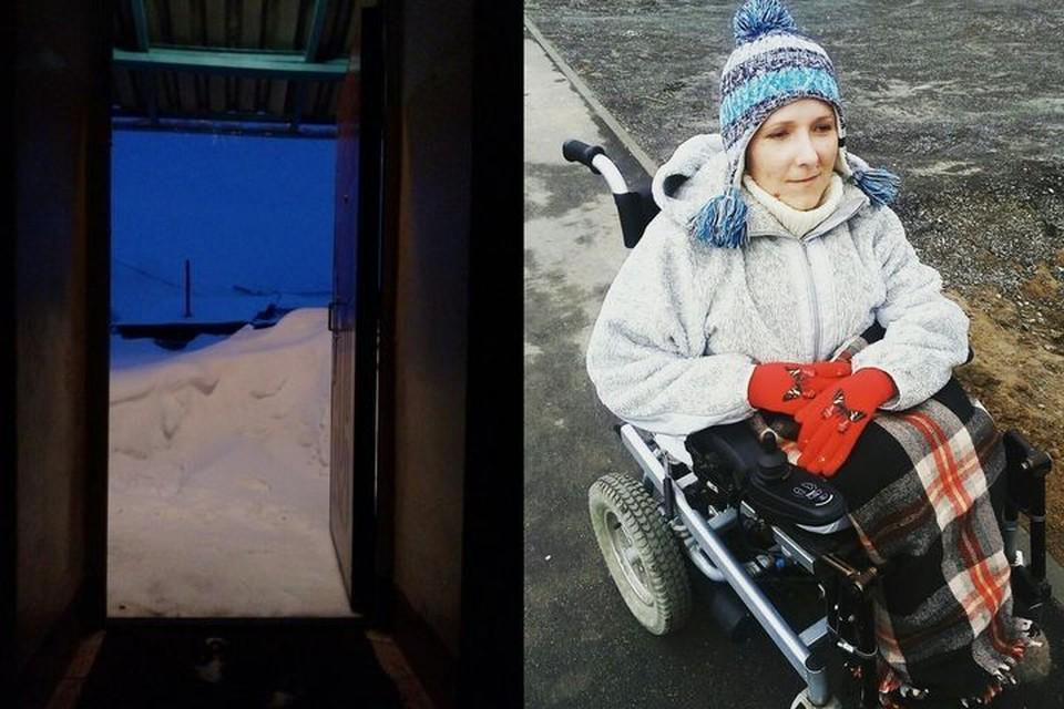 """Лариса Палухина оказалась буквально замурована в собственном доме из-за огромных сугробов. Фото: """"Гражданский патруль""""\Лариса Палухина"""
