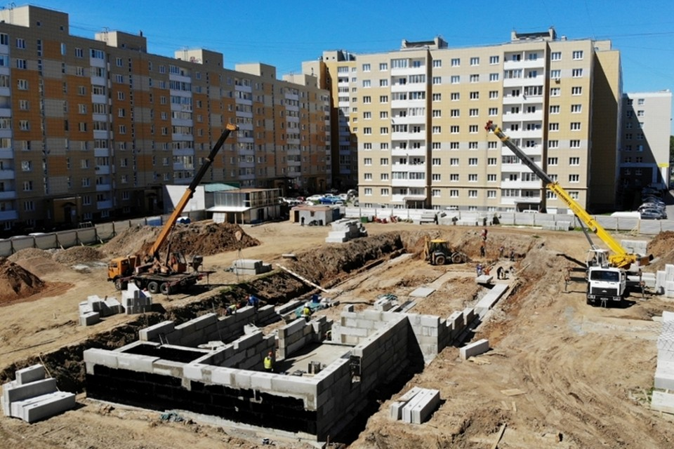 В прошлом году в Твери начали строить два детских сада. Фото: ПТО
