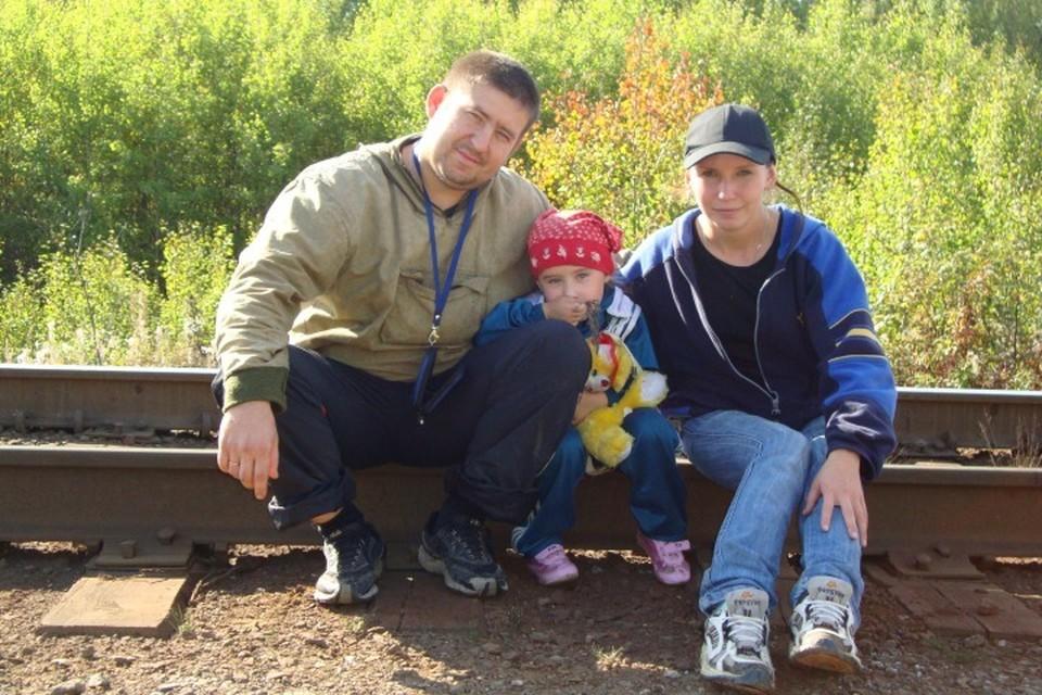 Катя с родителями не раз выезжала на природу. Фото: семейный архив.