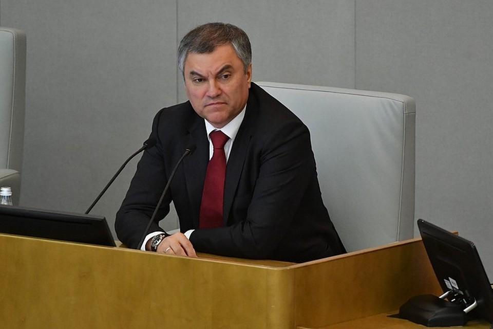 Как рассказал журналистам спикер Госдумы Вячеслав Володин, общий текст поправок занял 24 страницы
