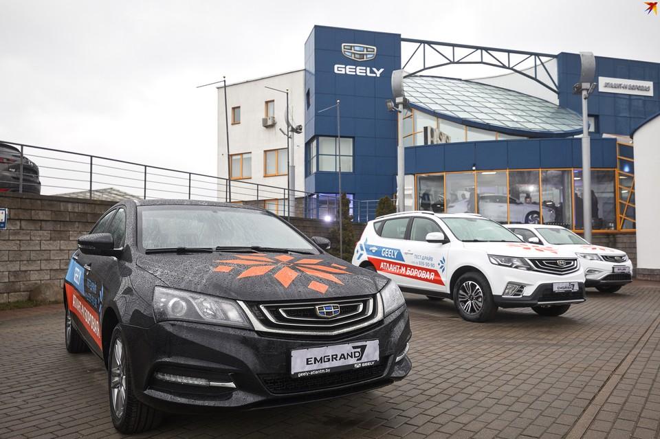 С автомобильным планетарием: в Минске открылся новый автоцентр Geely