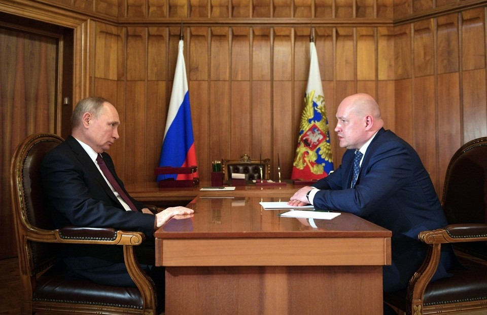 Встреча Владимира Путина и Михаила Развожаева