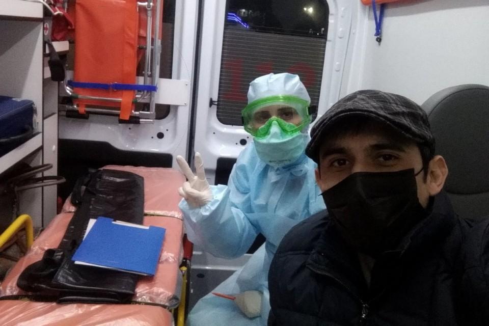Депутат Народного собрания республики Дагестан Тимур Гусаев по дороге в больницу