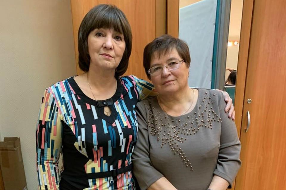 Нина Поддельская (справа) в 65 лет обрела биологическую сестру Майю. Фото: личный архив.
