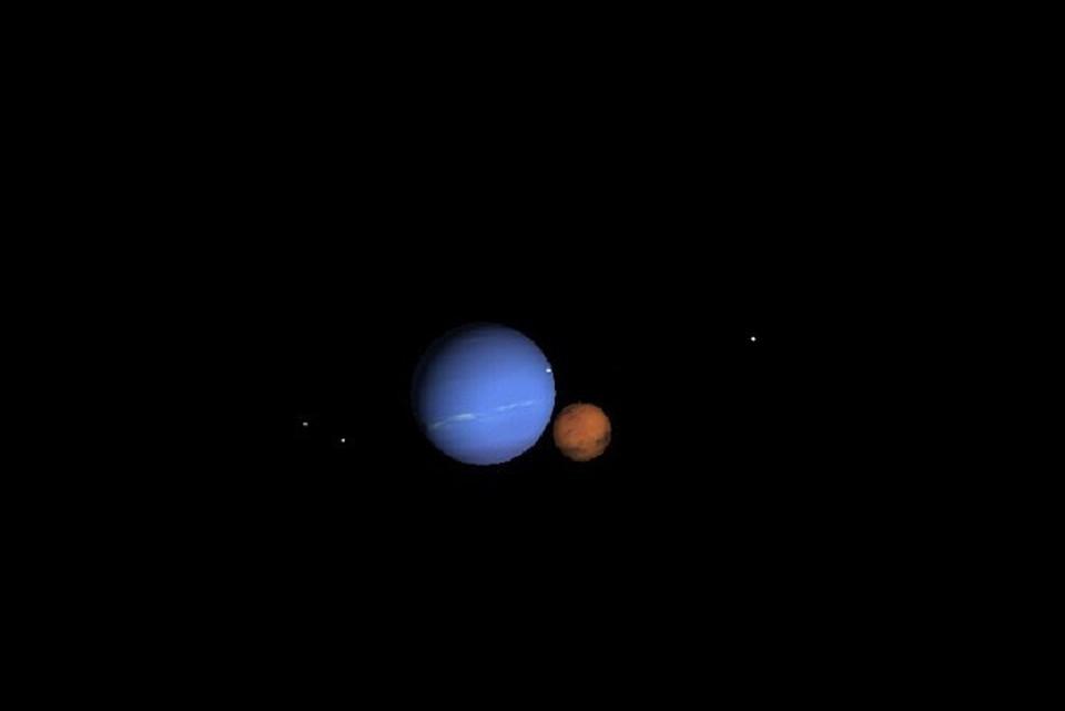 Затмение Марса Нептуном можно увидеть не каждый день