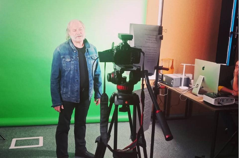Борис Каплун на записи клипа.
