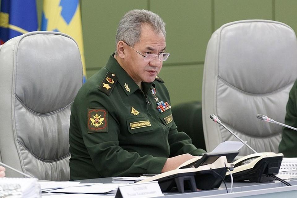 Министр обороны Сергей Шойгу. Фото: Пресс-служба Министерства Обороны РФ