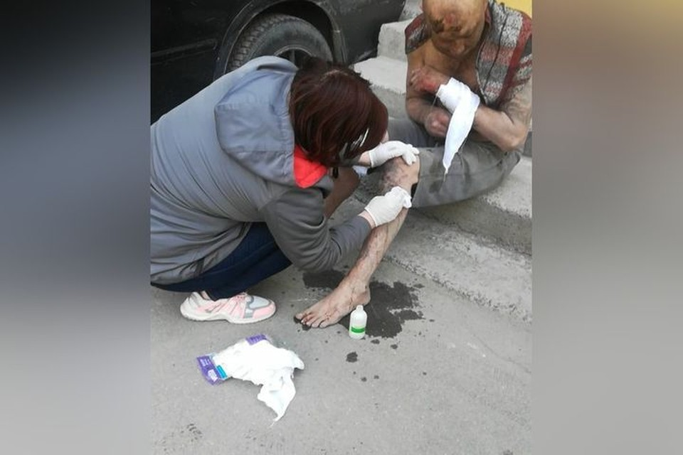 Сибирячку упрекнули в том, что она помогла окровавленному мужчине. Фото: Светлана Бабанакова