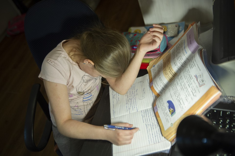 Уже почти месяц, как российские школьники ушли на дистанционное обучение
