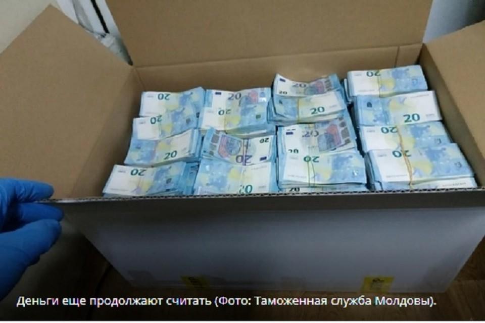 По не ясно, чьи это деньги (Фото: Таможенная служба Молдовы).