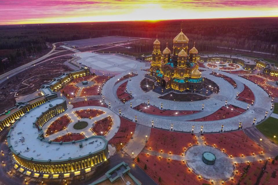 """В парке """"Патриот"""" завершено строительство главного храма Вооруженных сил."""