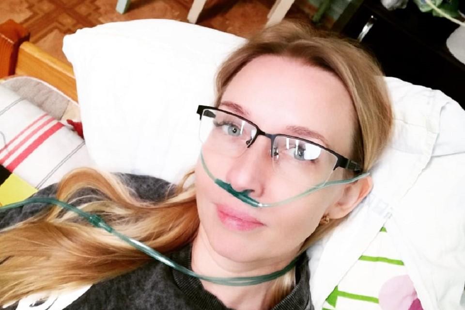 После концентратора кислорода Анна чувствовала себя лучше. Фото предоставлено героем материала.