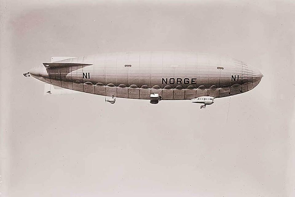 Дирижабль N-1 Norge («Норвегия»), на котором летел Амундсен, имел объем 19 000 м3.