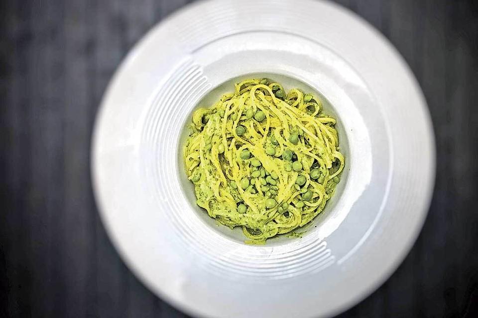 Спагетти с цукини.