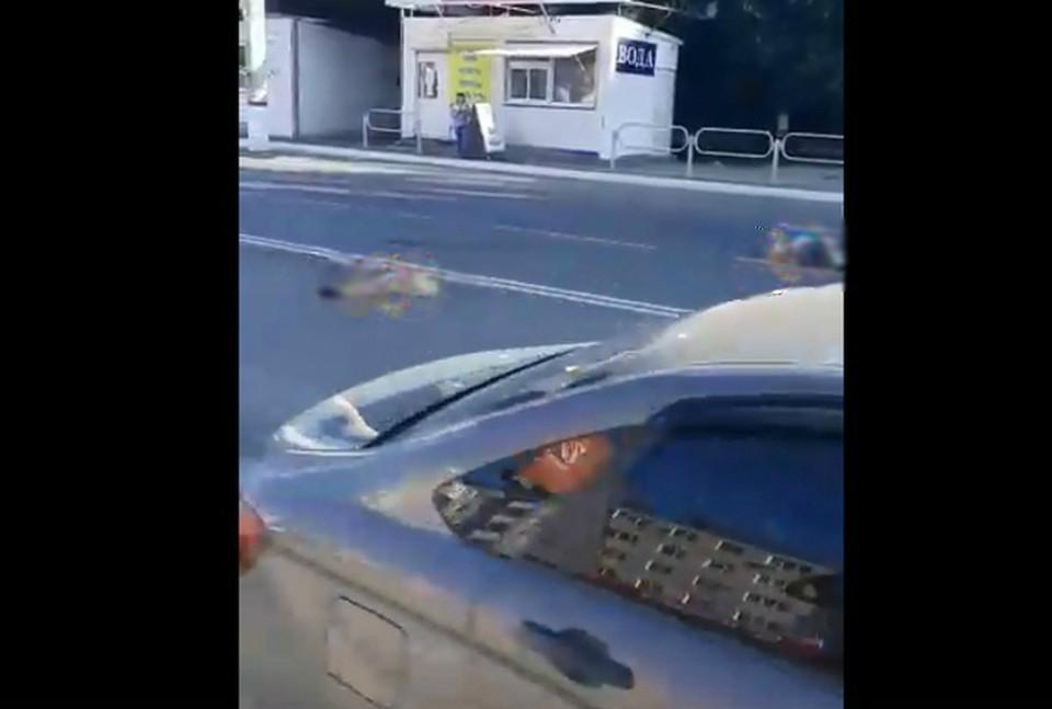 Жуткое ДТП произошло в Новокуйбышевске. Фото: скриншот видео