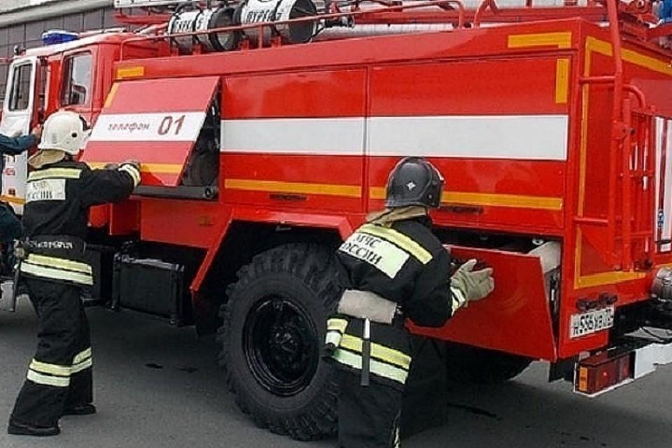 Семью спасли еще до приезда пожарных.
