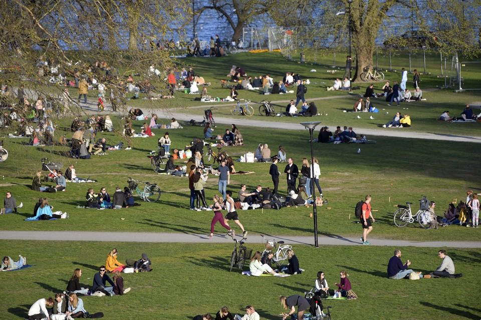 Жители Стокгольма во время пандемии коронавируса. Фото: EPA/ТАСС