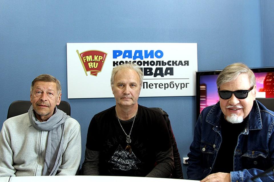 Александр Донских, Игорь Семенов и Александр Семенов в студии радио «Комсомольская Правда в Петербурге», 92.0 FM