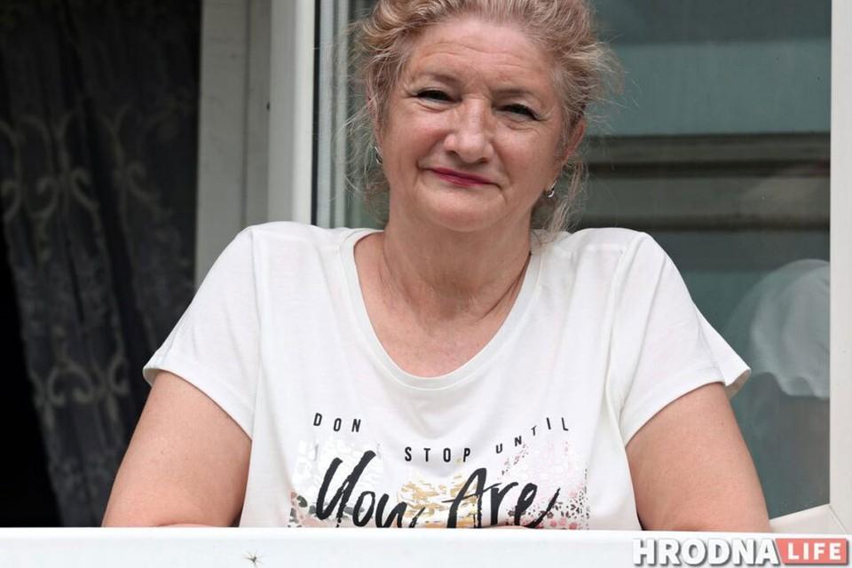 """Пенсионерка из Гродно: """"Я была в шоке от всего этого, и хорошо, что меня сзади кто-то поддержал. Так бы и я упала. Сейчас в 63 года меня хотят сделать хулиганкой"""". Фото: hrodna.life"""