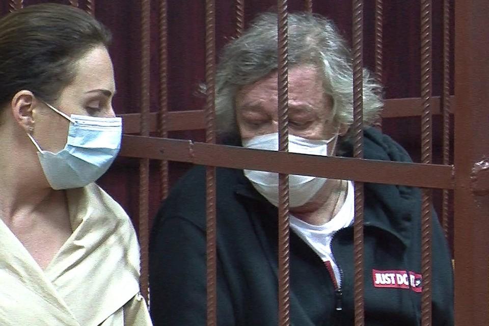 Михаил Ефремов в помещении суда. Фото: Пресс служба Таганского суда/ТАСС