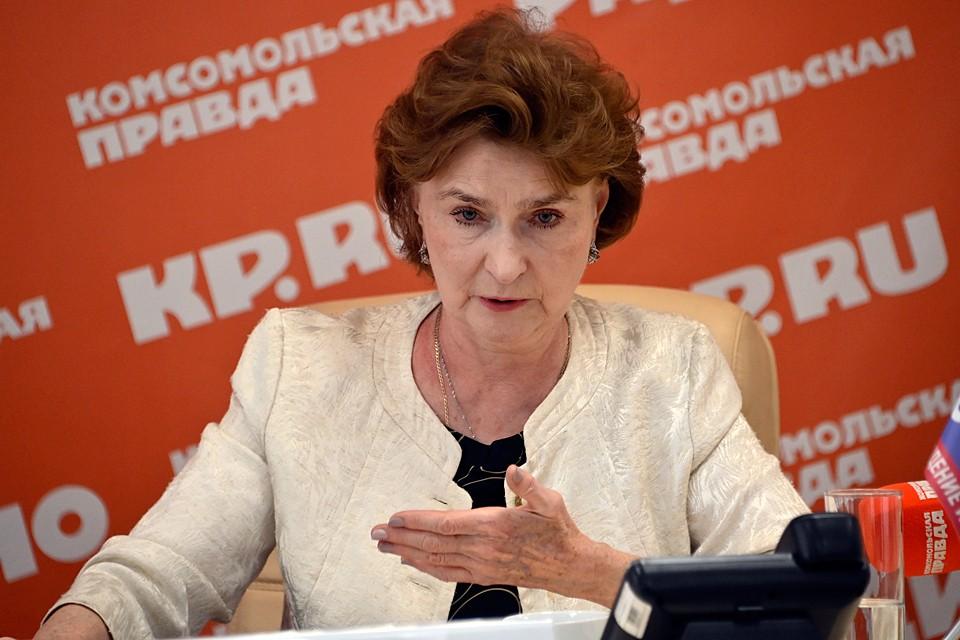 Наталия Нарочницкая подробно пояснила и свою позицию по поправке о приоритете внутреннего государственного права