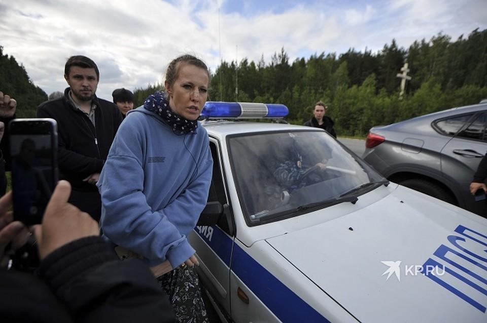 Съемочную группу Ксении Собчак избили на территории Среднеуральского женского монастыря