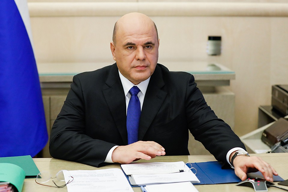 Михаил Мишустин провел заседание правительства в режиме видеоконференции. Фото: Дмитрий Астахов/POOL/ТАСС