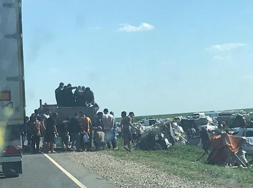 На границе Самарской области опять беженцы. Фото: https://www.facebook.com/photo.php?fbid=304170944046394&set=a.108157956981028&type=3&theater