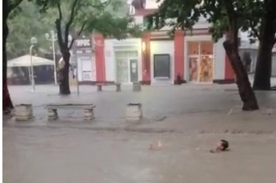 Мужчину унесло потоком в Геленджике