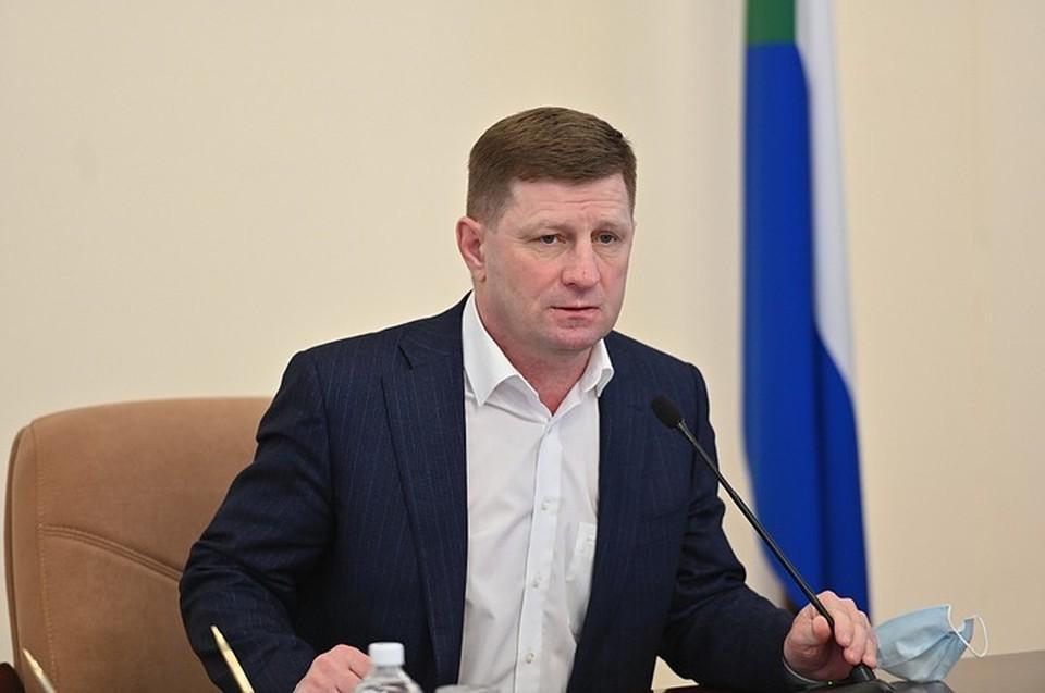В Кремле прокомментировали задержание Сергея Фургала. Фото: Правительство Хабаровского края