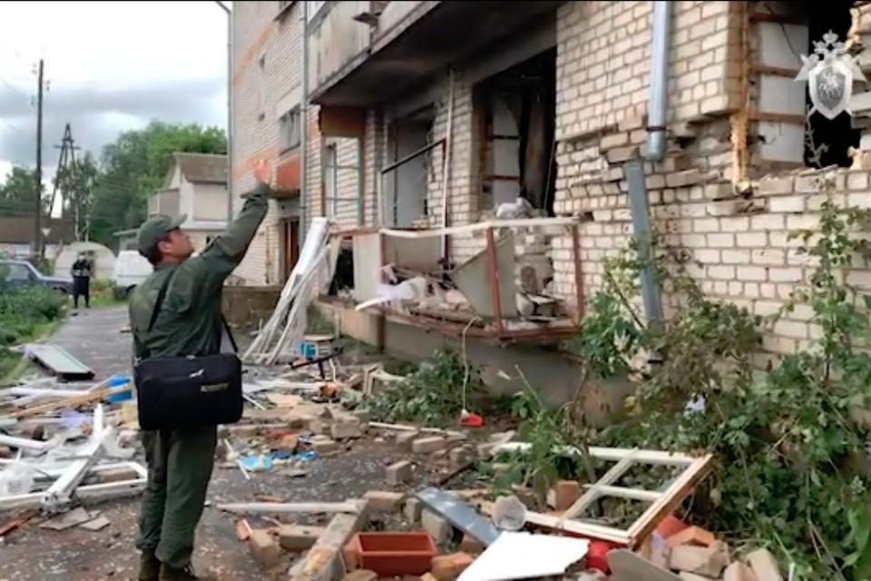 От взрыва пострадало трое человек, один из них погиб. Фото: скриншот с видео kirov.sledcom.ru