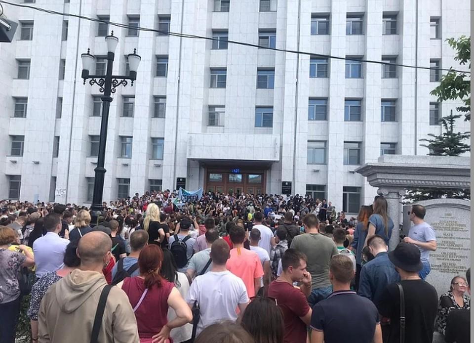 МВД дало оценку стихийному шествию в Хабаровске после ареста Фургала