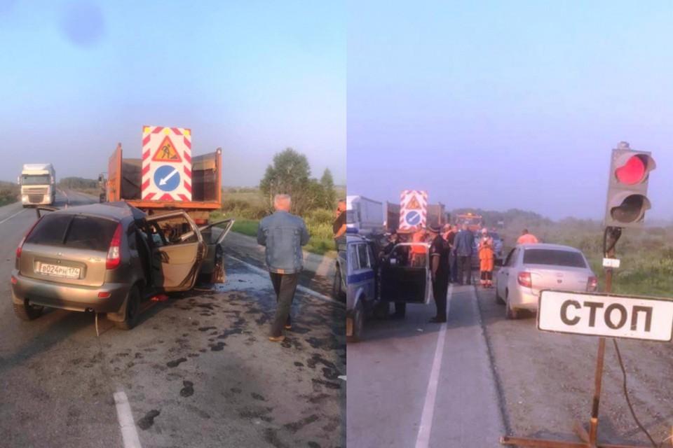 ДТП произошло около 18:40.ФОТО: предоставлено пресс-службой ГУ МВД по Новосибирской области