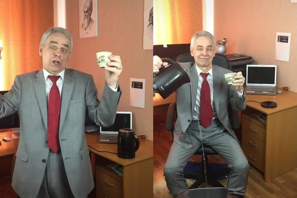 Физик Николай Милованов всего за месяц стал звездой TikTok. Фото: Скриншот