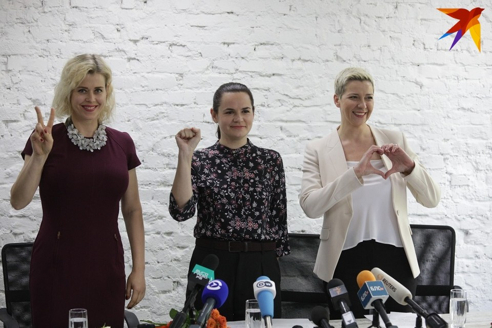 Вероника Цепкало, Светлана Тихановская и Мария Колесникова рассказали журналистам о своих дальнейших планах.